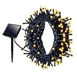 Solar Fairy Lights, Mpow 200LED Waterproof Solar Powered LED Fairy String Lights, Outside Solar Lights 72 ft 22m 8 Modes for Garden, Home, Patio, Yard, Trees,Parties,Wedding Warm White