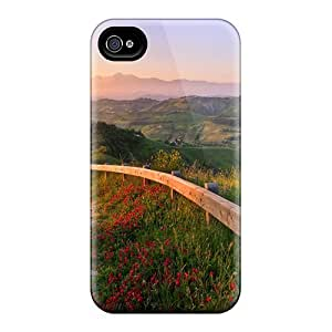 Hot Cover Case For Iphone/ 4/4s Case Cover Skin - The Hills Of Italy
