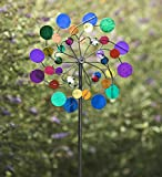 Midi Metal Wind Spinner, Multi-Colored - 15 dia. x 7 D x 48 H Inches