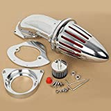 XMT-MOTO Spike Intake Air Cleaner Filter Kit for Kawasaki Vulcan 800 / Classic,Chrome