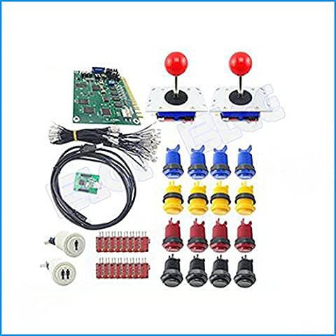 BLEE 60 in 1 Arcade Games DIY Kit with 2 Player USB to Jamma PC Board Arcade Joystick Push Button with Micro - Jamma Arcade Board