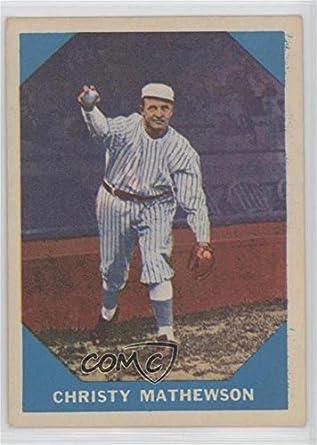 Amazoncom Christy Mathewson Baseball Card 1960 Fleer