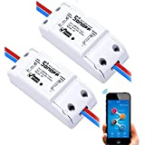 Sonoff WiFi Switch Pack of 2 Wireless Remote Control Electrical for Household Appliances Compatible with Alexa DIY Your Home via Iphone Android App