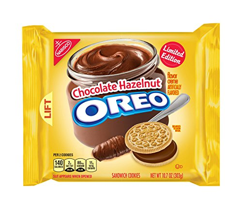 Oreo Chocolate Hazelnut Sandwich Cookies, 10.7 oz (American Oreos Cookies)