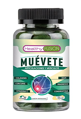 Muévete - Potente Cúrcuma Microencapsulada con Colágeno, Magnesio, Condroitina, MSM y Vitamina C - Componentes Microencapsulados de Rápida Asimilación ...