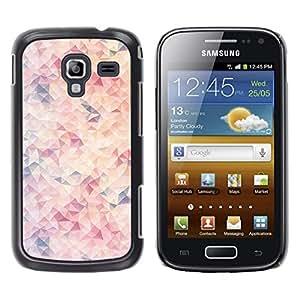 For Samsung Galaxy Ace 2 I8160 / Ace2 II XS7560M Case , Purple Orange Pink Abstract Art - Diseño Patrón Teléfono Caso Cubierta Case Bumper Duro Protección Case Cover Funda