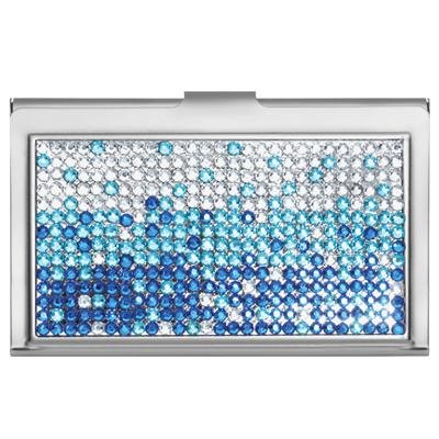 Amazon cascading blue rhinestone business card holder arts cascading blue rhinestone business card holder colourmoves
