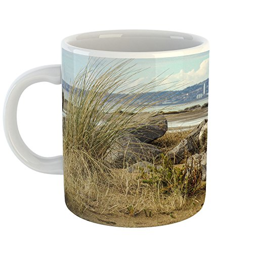 Westlake Art - Sea Grass - 11oz Coffee Cup Mug - Modern Picture Photography Artwork Home Office Birthday Gift - 11 Ounce (30EB-37DD5) - Finest Reserve Port