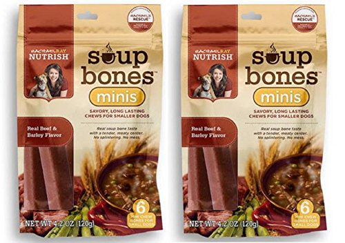 Price comparison product image Rachael Ray Nutrish Mini Soup Bones - Real Beef & Barley - 4.2oz (Pack of 2)