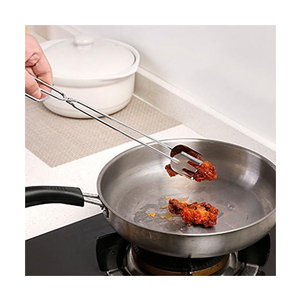 GROOMY Scissors Shape Frittura Griglia Clip Cibo BBQ Attrezzi Pinze Gadget da Cucina all'aperto 2 spesavip