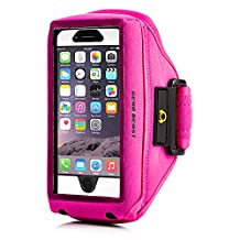 Gear Beast Case Compatible [Otterbox, Lifeproof, Other] Sport Running Armband ID/Card Slot iPhone 6s Plus, 6 Plus, Note 5, S7 Edge, S6 Edge Plus, Motorola Moto X Pure, Droid Maxx 2, Droid Turbo 2