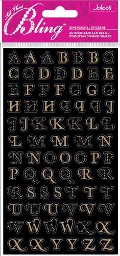 Gold Mini Foil Alphabet Dimensional Stickers ()