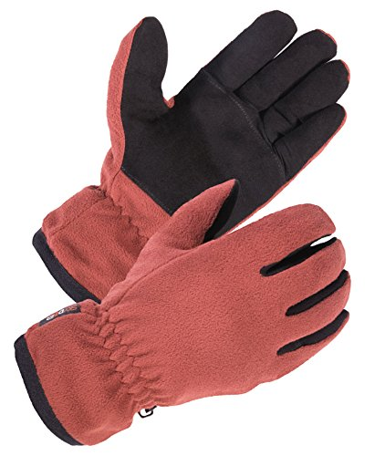 - SKYDEER Women's Winter Driving Gloves with Soft Deerskin Suede Leather and Warm Windproof Polar Fleece (SD8663T/M)