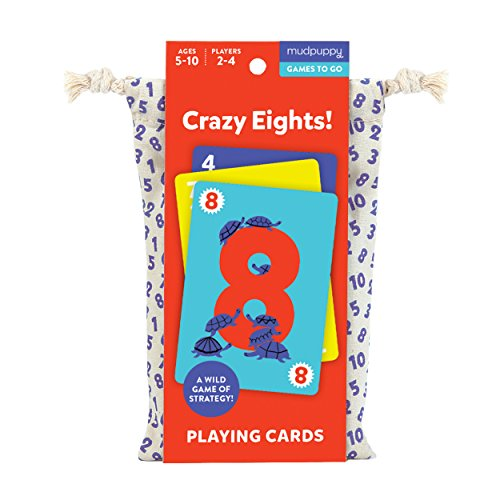 Mudpuppy Crazy Eights! Playing Cards