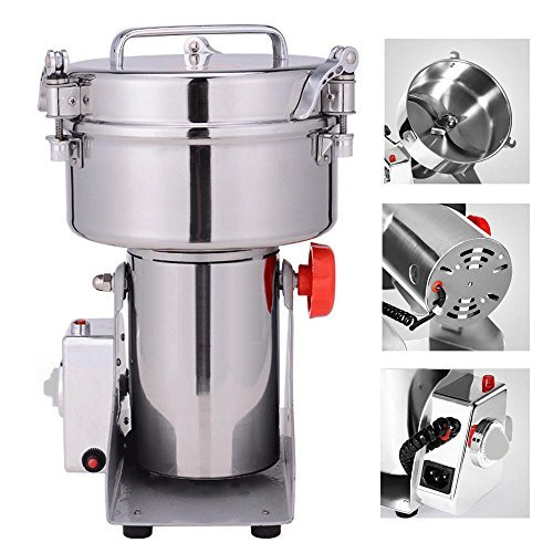 Suteck 2000g Electric Grain Grinder Mill Powder Machine High Speed Commercial Swing Type Grinder Machine for Herb Pulverizer Grinding Various Grains Spice