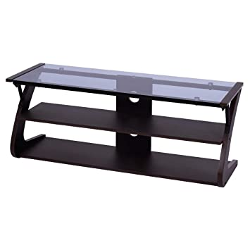 Amazon.com: Lucky-gift - 3-Tier Tempered Glass Top TV Stand ...