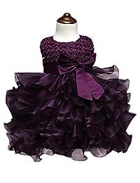 Cresay Girls Baby Princess Flower Wedding Party Christening Beading Tutu Dress