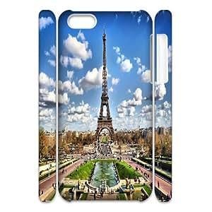 Custom Eiffel Tower 3D Cover Case, Custom Hard Back Phone Case for iPhone 5C Eiffel Tower