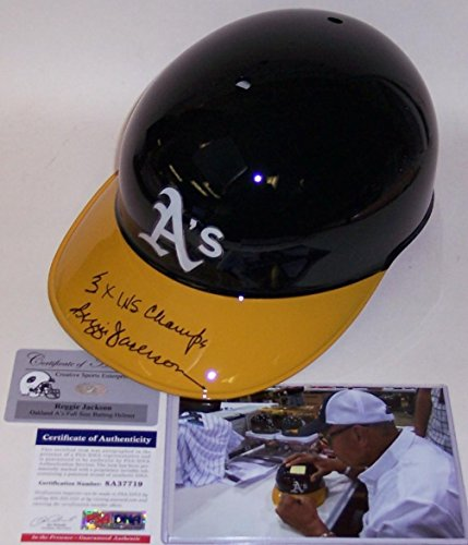 Reggie Jackson Autographed Hand Signed Oakland A's Authentic Batting Helmet - PSA/DNA Certified - Autographed MLB Helmets and Hats