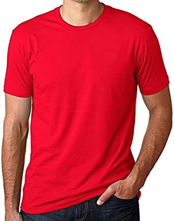 Mens Premium Fitted Short-Sleeve Crew - Red 3600 3XL