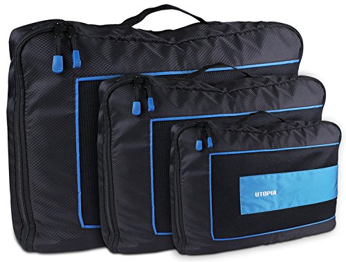 Durable Packing Cubes 3 Piece Set - Travel Luggage Packing Organizer - by Utopia Home