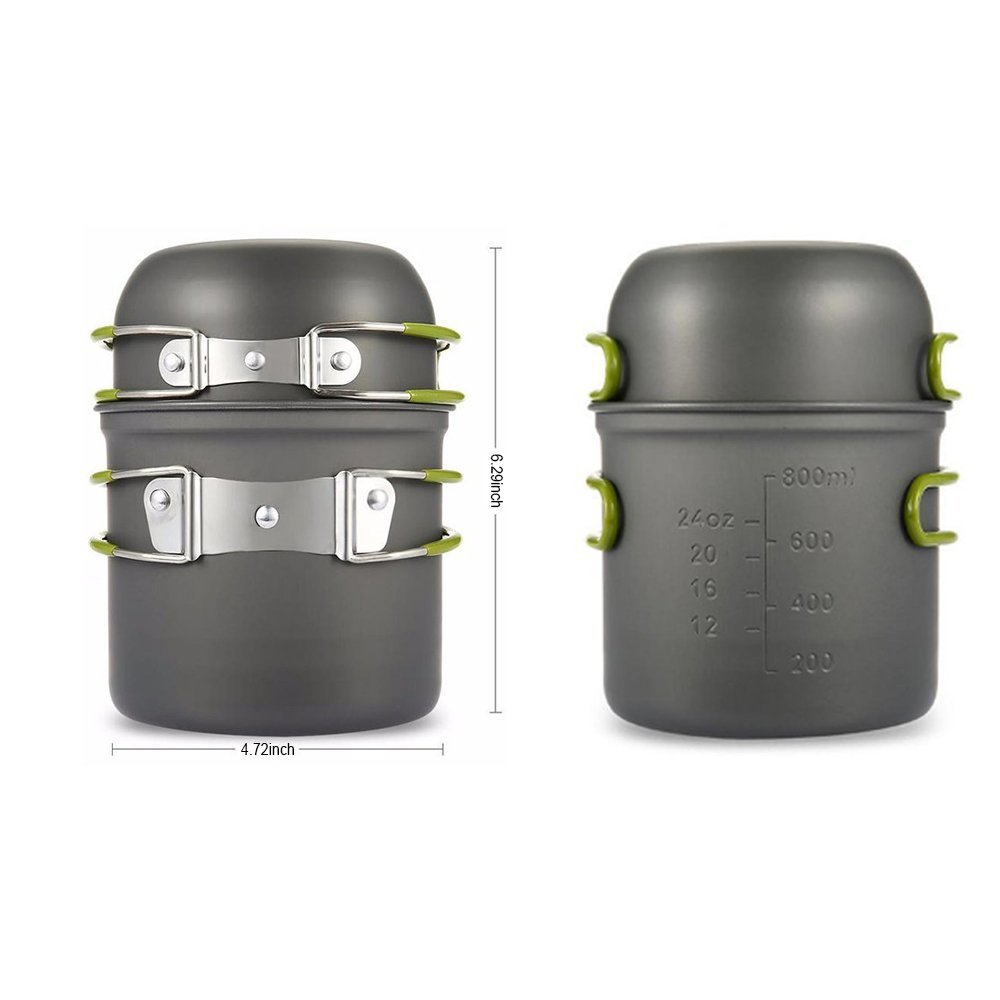 Lower Price with Petforu Compact 2pcs Foldable Outdoor Cookware Picnic Bowl Pot Pan Set With Mesh Bag Outdoor Stoves Campcookingsupplies 30 Led Bulbs Collapsible Camping Lantern