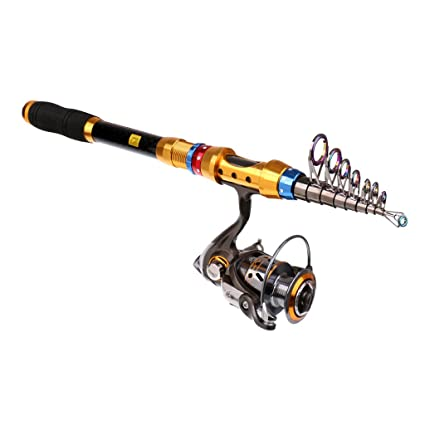 536e39194b0 MonkeyJack Fishing Rod Reel Combos Fiber Carbon Telescopic Fishing Rod Pole  with Spinning Reel Fishing Rod