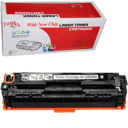 Tuobo Black Compatible HP125A / CB540A Toner Cartridge Compatible with HP Color LaserJet CM1312 MFP, Color LaserJet CM1312nfi, Color LaserJet CP1215, Color LaserJet CP1515n, Color LaserJet CP1518ni Ink ()