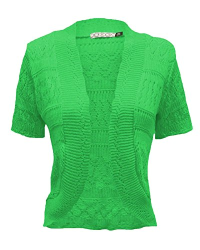 Corte Maniche Cardigan Lime Donna Vendor Top Green w6pEqt6x