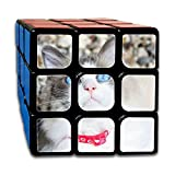 AVABAODAN Blue Eyes Cat Rubik's Cube 3D Printed 3x3x3 Magic Square Puzzles Game Portable Toys-Anti Stress For Anti-anxiety Adults Kids
