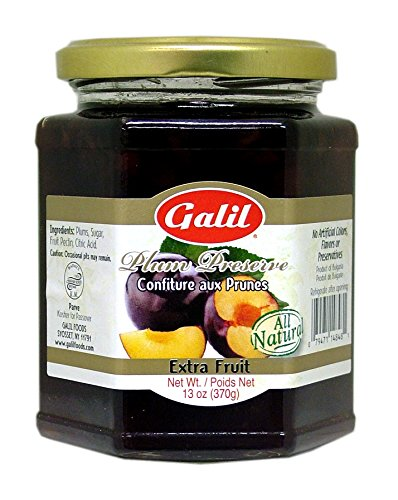 (Galil Non-GMO Preserve, Plum, 13 Ounce (Pack of 6))