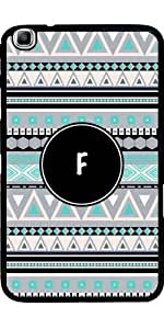 Case for Samsung Galaxy Tab3 8.0 SM-T310 - Monogram - tribal pattern *F* by ruishername
