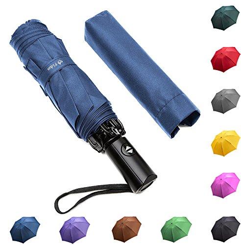 Automatic Open Reverse/Inverted Umbrella (Black/Navy Blue) - 3