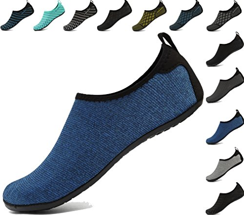 AoSiFu Women's Men's Beach Water Sports Shoe Swim Footwears for Surf Yoga Aerobics starblue 42-43