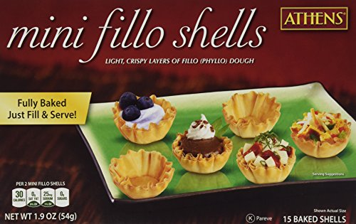 Athens Foods Mini Fillo Dough Shells 15 Per Box (3 Boxes)