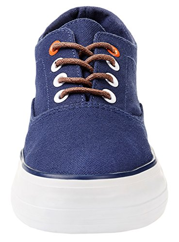 oodji Ultra Women's Thick-Sole Cotton Canvas Blue (7900n) RCdOE