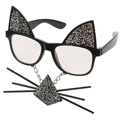 Fighting to Achieve Sunglasses Glasses for Party Decoration Costume Eyewear Photo Booth Props, Cat Beard Sunglasses ()