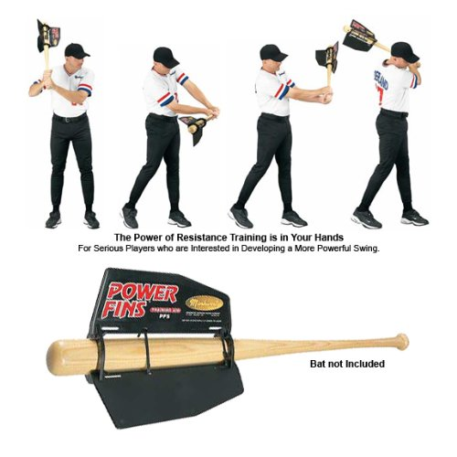 Baseball/Softball Bat Air Resistance Power Fin Swing Trainer (Replace Bat Weights that Harm Swings) by Authentic Baseball Shop