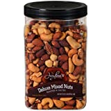 Jaybees Roasted Salted Deluxe Mixed Nuts (32Oz) Great for Holiday Gift Giving or as Everyday Snack Featuring Cashews Almonds Brazil Nuts Pecans and Filberts