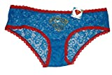 DC Comics Supergirl Women's Logo Lace Super Hero Panty (Large 7)