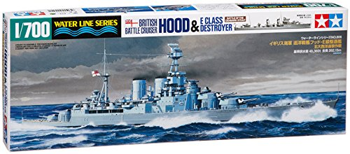 British Battle Cruiser Hood & E Class Destroyer - 1:700 Scale Ships - Tamiya 1 700 Scale Model Ships