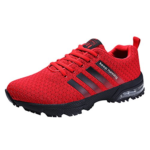 Entraneurs Absorbant Gym Air Rouge Hommes Athltique Femmes De Hmiya Sports Casual Chaussures Baskets Jogging Chocs Fitness Course 8CxP0Oqw