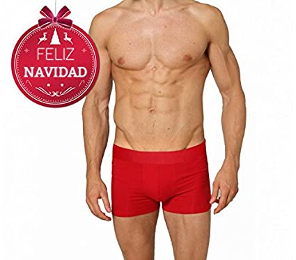 Boxer de Nochevieja para hombre DASHER (color rojo) - Ropa interior masculina - L
