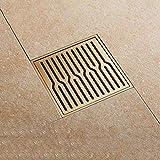 SJQKA Floor Drain Bathroom Deodorant Floor Drain Large Displacement Bathroom Shower Room Balcony Sewer Insect Proof Copper Natural Floor Drain,B
