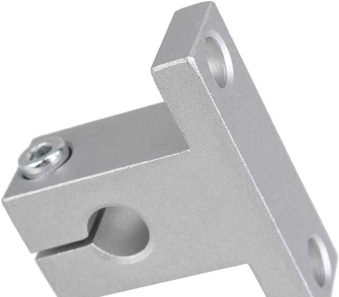 BQLZR horizontal lineal de 400 mm de eje /¨ptico y 8 mm varillas de plomo con tuercas Linear bloque de diapositivas y acoplador paso a paso