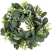Grinalda de plantas de decoração de barras, grinalda de folhas verdes, 10,6 x 10,6 x 2 pol em plantas artifici