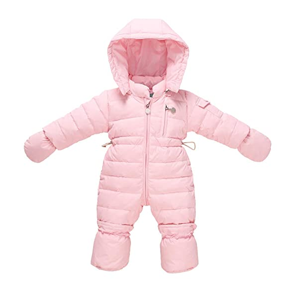 ce7b004a6 ZAMME Baby Hoodie Down Jacket Romper Snow Suit 3-6 Months: Amazon.co ...