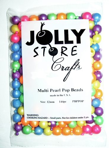 12mm Pearl Color JOLLY STORE Crafts Pop Beads 1gross/144pc