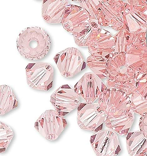 48 Light Rose 4Mm Xilion Crystal Bicone Beads (5328) ()