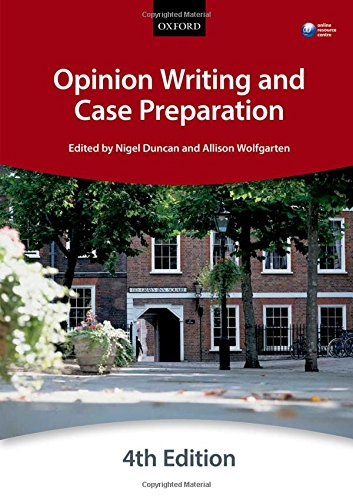 Opinion Writing and Case Preparation (Bar Manual)